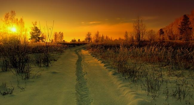 Красота бездорожья в зимний период.