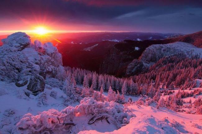 Зимний лучик на закате