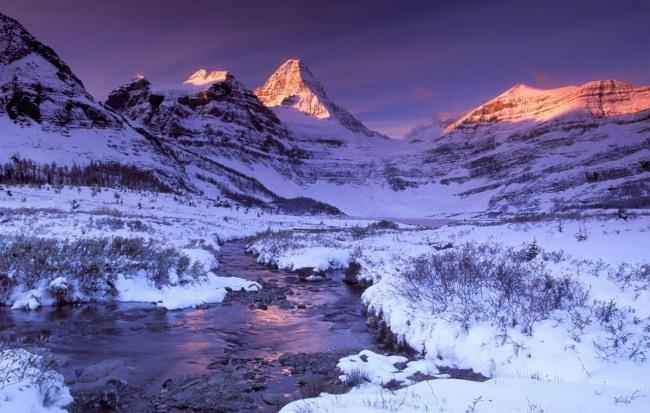 Зима в горах