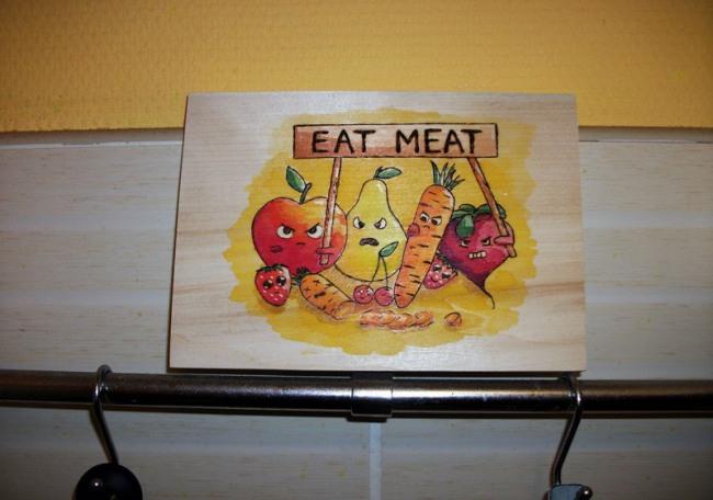 Протест против вегетарианцев