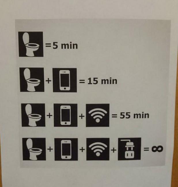 Время в туалете проходит по разному
