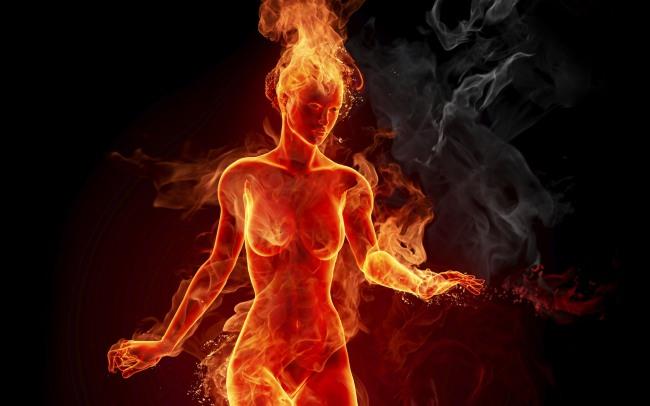 Девушка огонь