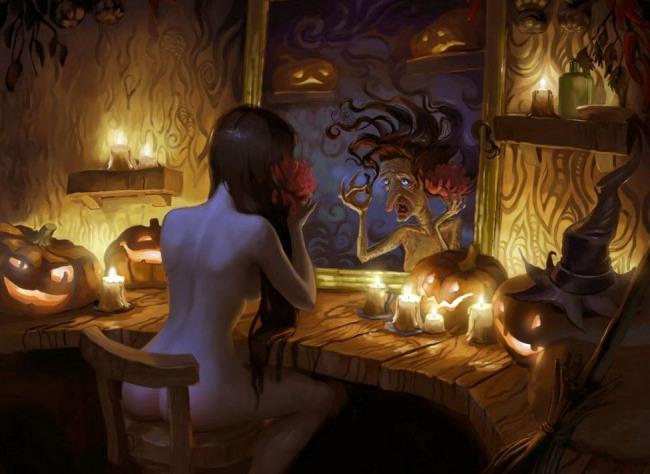 Ведьма в ночь на хэллоуин