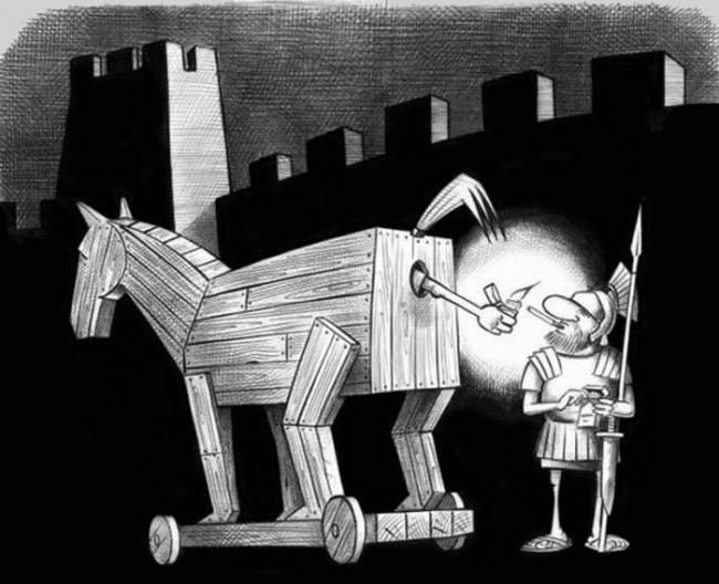 Троянский конь дает прикурить