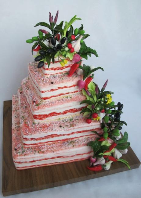 Торт из сала