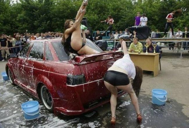 Конкурс мытья машин
