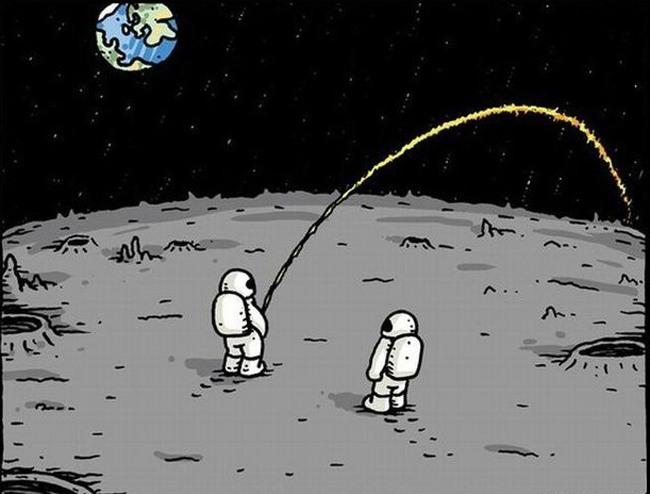 Помочится на луне