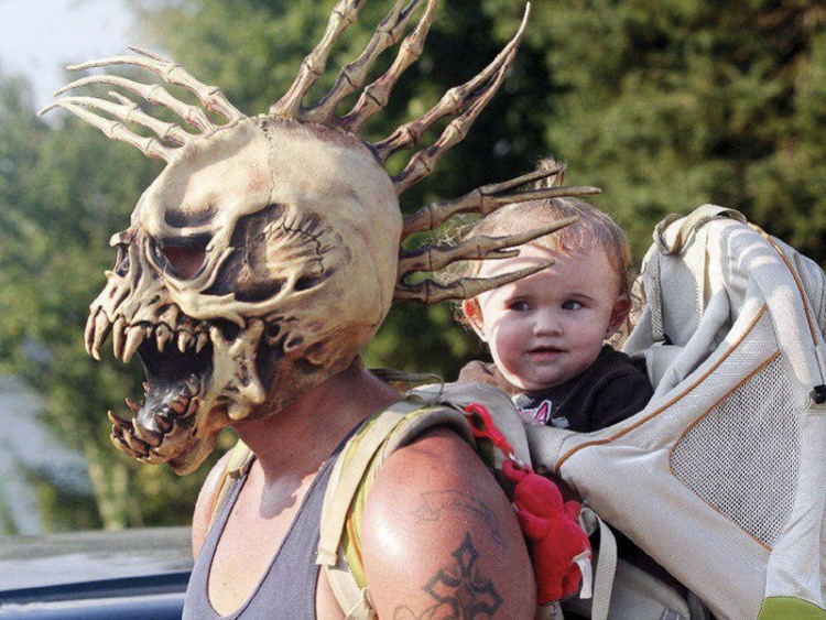 Веселый шлем у папы