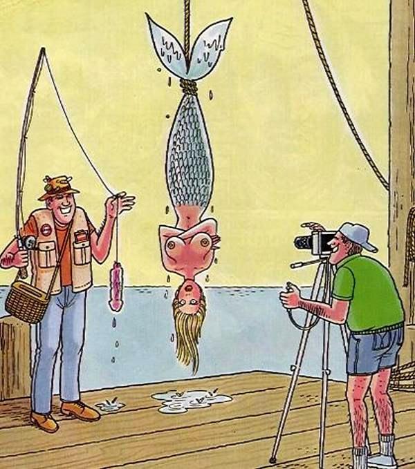Ловля русалки на живца