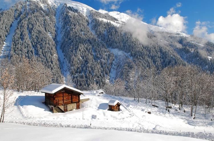 Домик в зимних горах