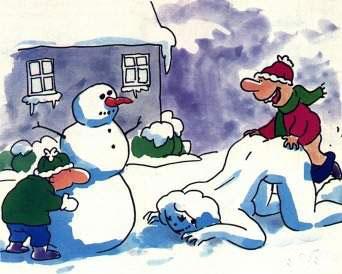 Лепим снежных баб