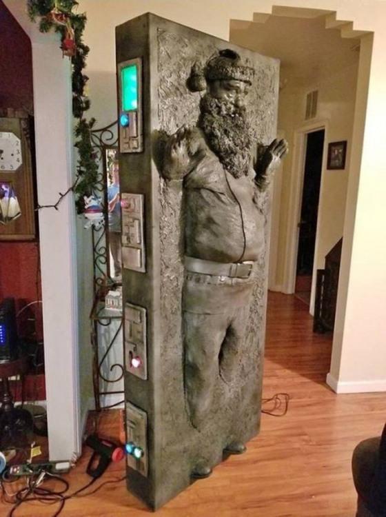 Санта после встречи с Дарт Вейдером