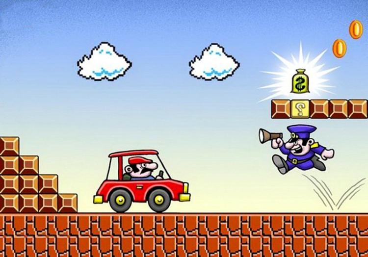 Супер Марио за рулем