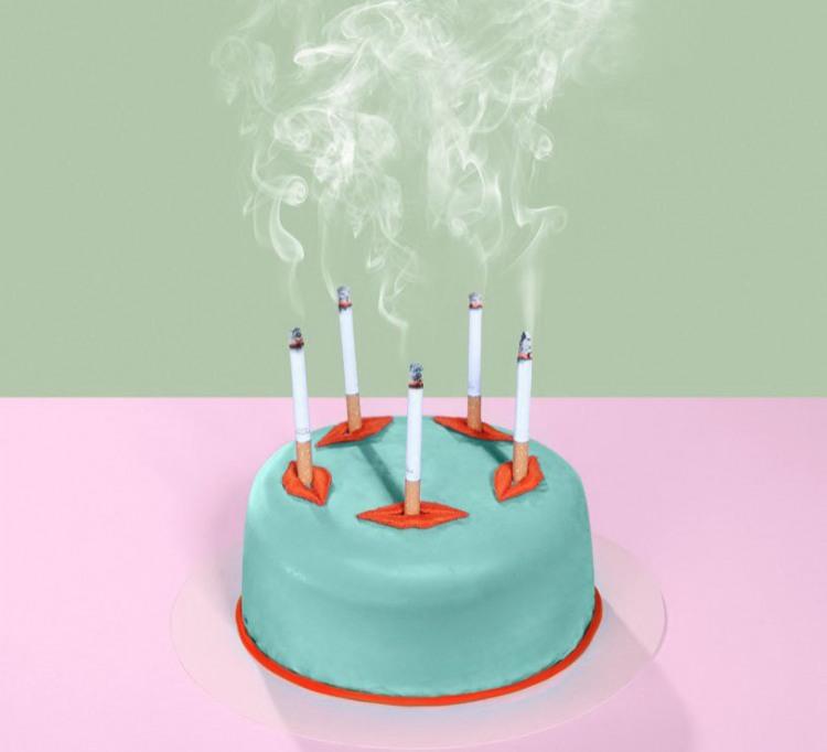 Торт с сигаретами