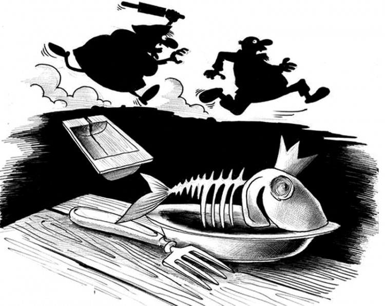 Золотая рыбка исполнила одно желание - утолила голод