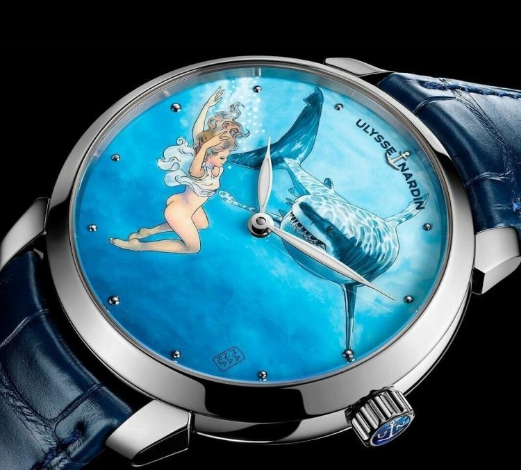 Эротичные часы с акулой