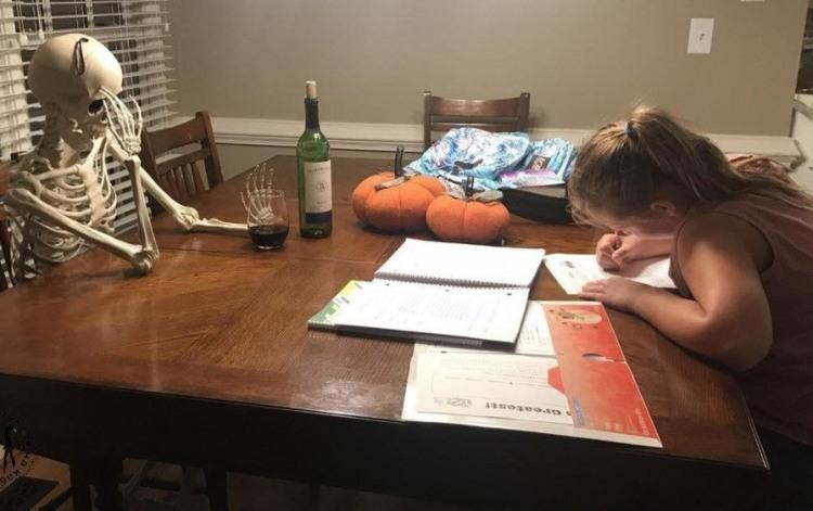 Он не дождался окончания домашней работы