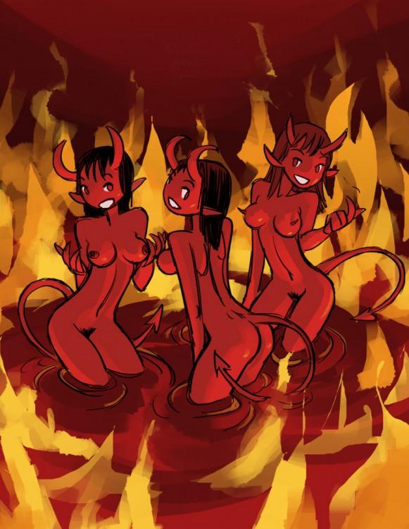Горячие чертовки заманивают в ад