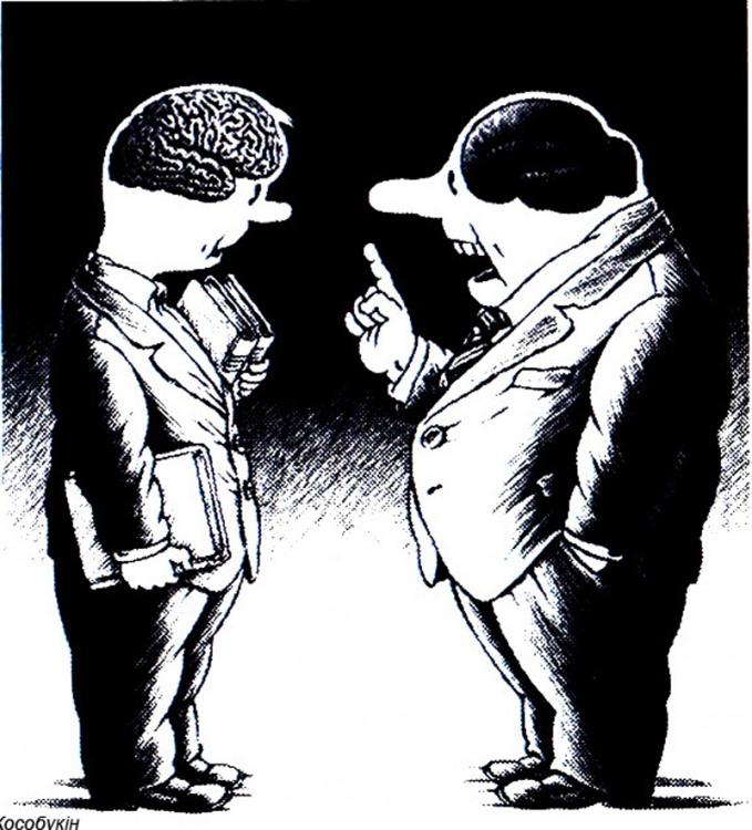 Диалог людей с разным строением мозга