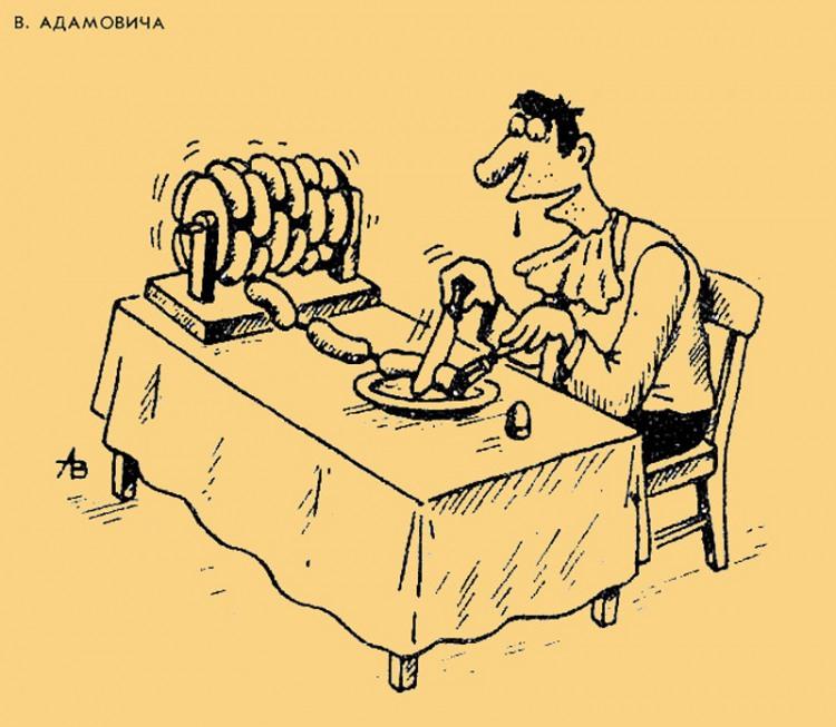Бесконечный обед из сосисок