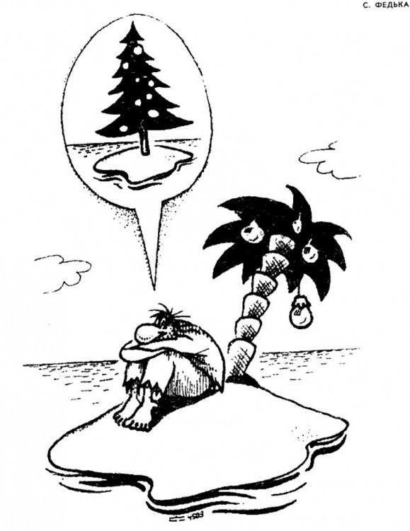 Новогодние мечты на необитаемом острове