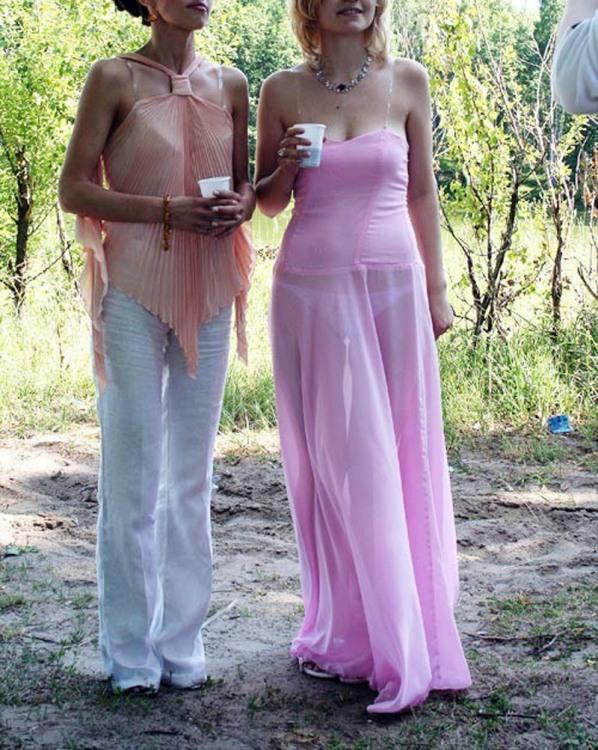 Прозрачное платье
