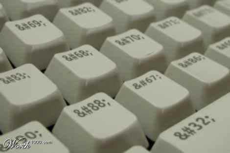 Клавиатура html верстальщика