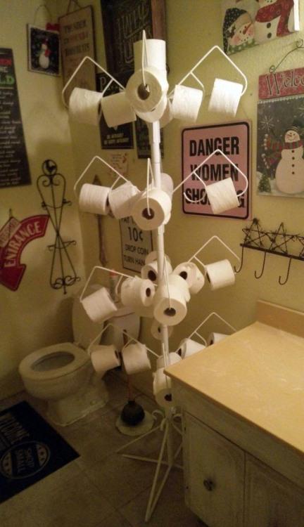 Дерево туалетной бумаги