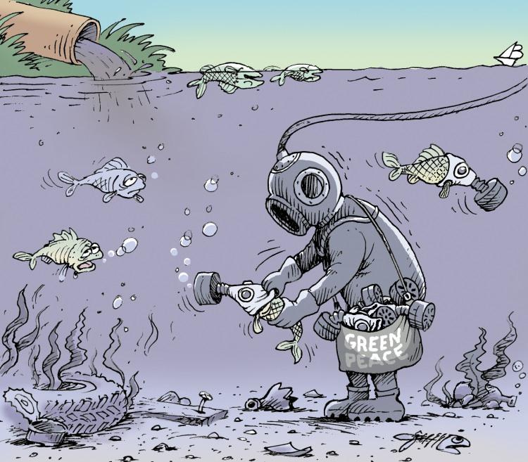Гринпис спасает рыбу