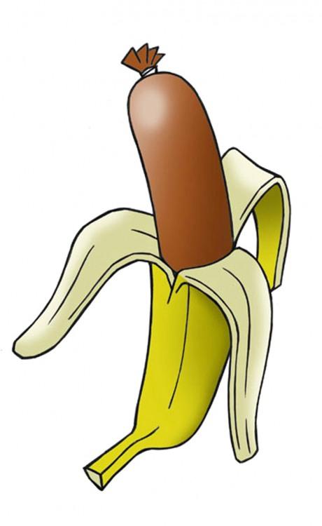 Банан-сосиска