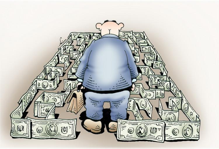 Лабиринт из денег