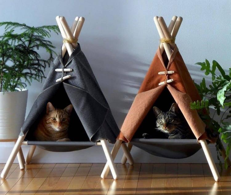 Коты в вигвамах