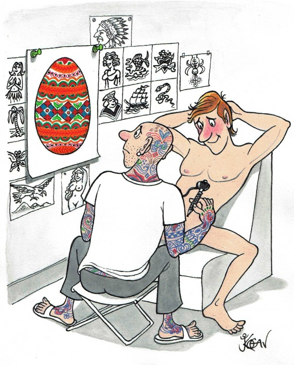 Татуировка на яйцах